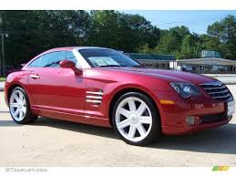 2004 blaze red crystal pearl chrysler crossfire limited coupe