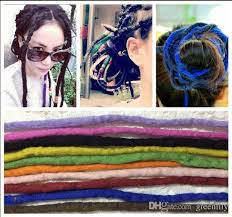 cheap hair accessories fashion africa style dreadlock colorful wigs tangle dreadlock