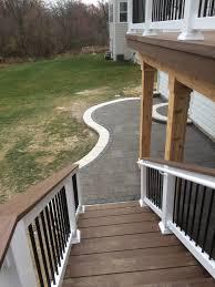 Deck To Patio Transition Paver Patio Design And Installation U2013 Columbus Decks Porches And