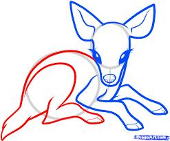 cute anime deer how to draw a baby deer baby deer step 5