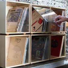 Vinyl Record Storage Cabinet Record Album Storage Cabinet A Modern Colorful Solid Wood Storage
