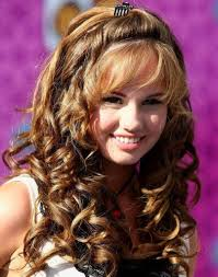 curly layered hairstyles with bangs long curly hairstyles with