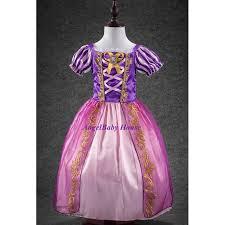 disney princess rapunzel costume dress with ribbon dark purple