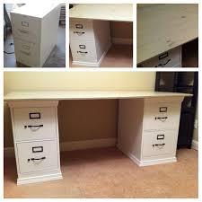 Diy Desk With File Cabinets Best 25 File Cabinet Desk Ideas On Pinterest Filing Cabinet In