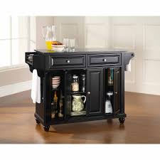 black granite kitchen island crosley furniture cambridge solid black granite top kitchen island