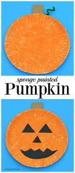 sponge painted pumpkin craft pumpkin crafts fall and