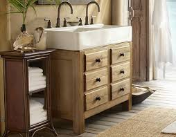 Pottery Barn Sisal Rug Sisal Rug And Wooden Vanity Using Black Faucet And Large Sink