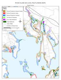 Rhode Island On Map Sea Level Rise Planning Maps Likelihood Of Shore Protection In