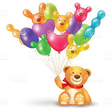 bunch of balloons teddy with a bunch of balloons stock vector more images