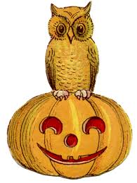 vintage halloween clip art cute owl on pumpkin graphics fairy