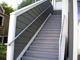 outdoor stair railings ideas aluminum handrail for stairs decorate