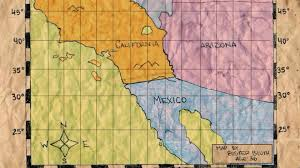 Us Mexico Border Map by A Map Of The U S Mexican Border According To Buster Bluth Age 36