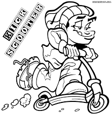 kick scooter coloring pages coloring pages to download and print