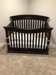 Convertible Crib Mattress Size Baby Crib Also Turns Into Size Bed Furniture In Chicago Il