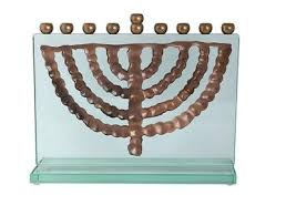 hanukkah menorahs glass and brass hanukkah menorah adaptation ein gedi 6th
