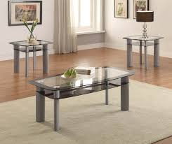 3 piece end table set metro black edge 3 piece coffee and end table set