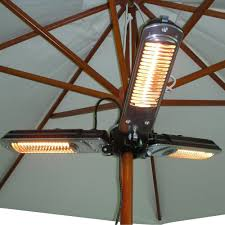 Firesense Table Top Patio Heater by Fire Sense Umbrella Mounted Halogen 1500 Watt Black Patio Heater