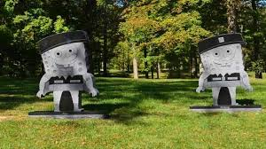 cemetery headstones family cemetery at odds pair of granite spongebob headstones