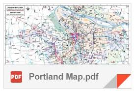 map of oregon detailed portland area maps and commute times