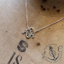 Silver Monogram Necklace Handmade Silver Bespoke Monogram Necklace