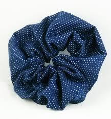 hair scrunchy navy blue white polka dot hair scrunchy s boutique s
