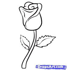 coloring pages breathtaking simple roses draw easy