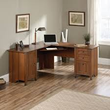 Corner Computer Desk With Drawers Carson Forge Corner Computer Desk 416969 Sauder