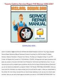 toyota caldina service repair pdf manual 2002 by kattiehoyle issuu