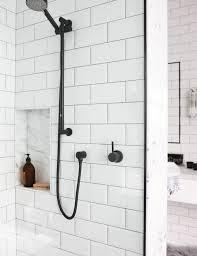 Subway Tiles Bathroom Best 25 Black Subway Tiles Ideas On Pinterest Black Tiles