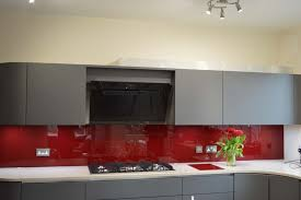 Red Kitchen Lights by Purple Red Glass Kitchen Splashback By Creoglass Design London