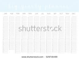 yearly calendar blank vector template minimal stock vector