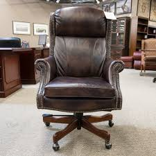 brown leather executive desk chair used hooker leather executive office chair brown che1538 003