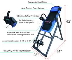 inversion table for lower back pain yes this inversion therapy device has heat and massage features