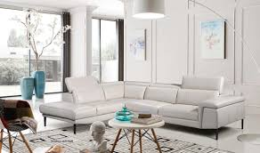 Leather Sectional Sofa Chaise by 1511 Leather Sectional Sofa In Light Grey Free Shipping Get