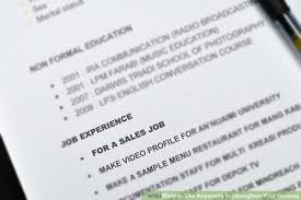 sales keywords 3 ways to use keywords to strengthen your resume wikihow