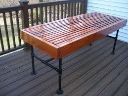 best diy cedar outdoor table with built in wine beer cooler