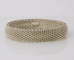 silver mesh bracelet with images Tiffany co sterling silver mesh bracelet penny pincher boutique jpg