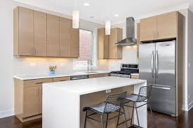 light oak kitchen cabinets modern modern kitchen with hardwood floors light wood