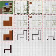 minecraft small modern house blueprints