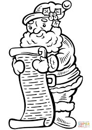 christmas list coloring page free printable coloring pages