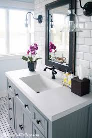 Cottage Bathroom Vanities by Allen Roth 3 Light Vallymede Brushed Nickel Bathroom Vanity