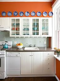 25 Stunning Kitchen Color Schemes Kitchen Color Schemes Kitchen Skillful Ideas Orange Kitchen Colors Kitchens Wall Cabinet Modern