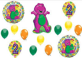 Amazon BARNEY 2nd BIRTHDAY PARTY Balloons Decorations