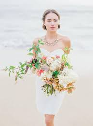 wedding dress bali bali sunset dress knee length 3d lace flower wedding dress