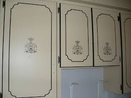 kitchen cabinets painted w stencil here is a closer image u2026 flickr