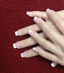 sola nails white tip design pinterest nails