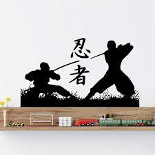 japanese warrior vinyl sticker ninja samurai wall decals martial japanese warrior vinyl sticker ninja samurai wall decals martial arts gym d570