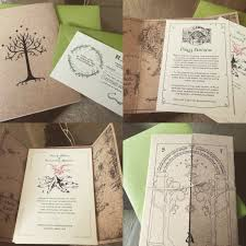 my fiance made these awesome lord of the rings invitations lotr