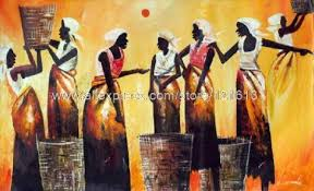 african abstract paintings mother and child painting eternal bond free african abstract art