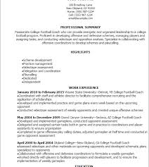 prissy inspiration resume coach 3 professional college football